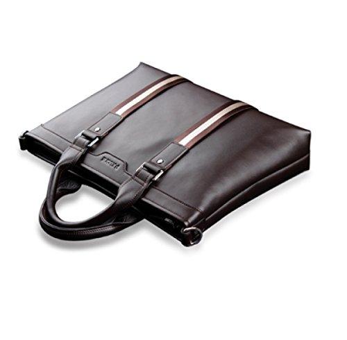 BULAGE Taschen Leder Mann Hand Schulter Kurier Einfach Dokumente Computer Praktisch Einfach Leder Brown