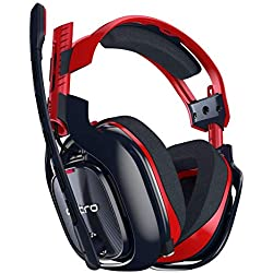 ASTRO Gaming A40 TR-X Casque PC filaire, compatible Mac, PlayStation 4, Xbox One - Rouge/bleu