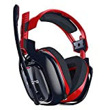 ASTRO Gaming A40 TR-X Edition Headset for PC with Microphone and Cable Also compatible with Mac, PlayStation 4, Xbox One, without Amp Mix, Red / Nerro