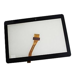LCDOLED® 10.1 zoll Touchscreen Touchpanel mit Digitizer Glas Scheibe Ersatzteil für Samsung GALAXY Tab 2 P5100 (schwarz)