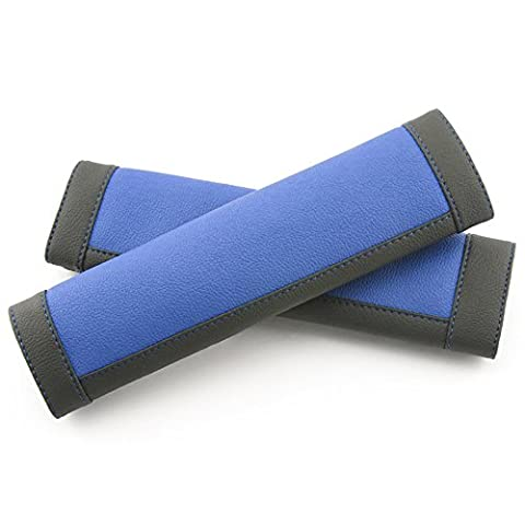 COFIT Black and Blue Seat Belt Pads Pack of 2