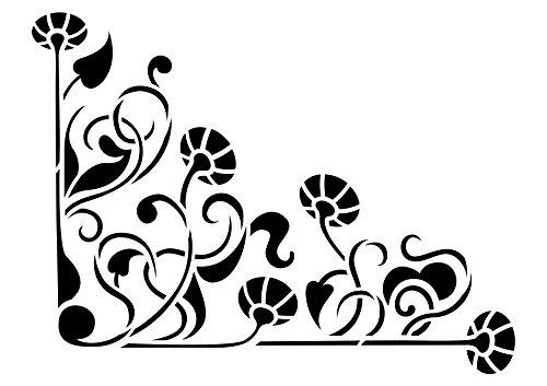 artemio-a4-plantilla-para-estarcir-diseo-de-esquina-floral