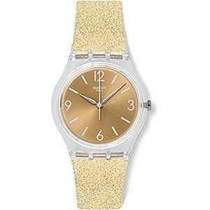 Swatch Reloj Digital de Cuarzo para Mujer con Correa de Silicona – GE242C