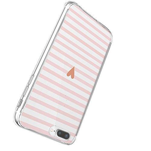 Inonler Die liebe und der zebra - streifen Mädchen hülle ()(iPhone 5/5S/SE,Pink) -