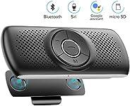 AGPTEK Bluetooth 4.2 Car Speakerphone for Cell Phone,Hands Free Wireless Car Speaker Kit with 3W Loud Speaker,