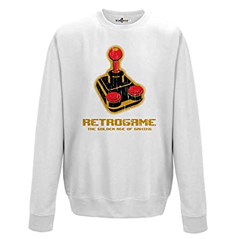 pull ras du cou sweat-shirt Retrogame Golden Age jeux video