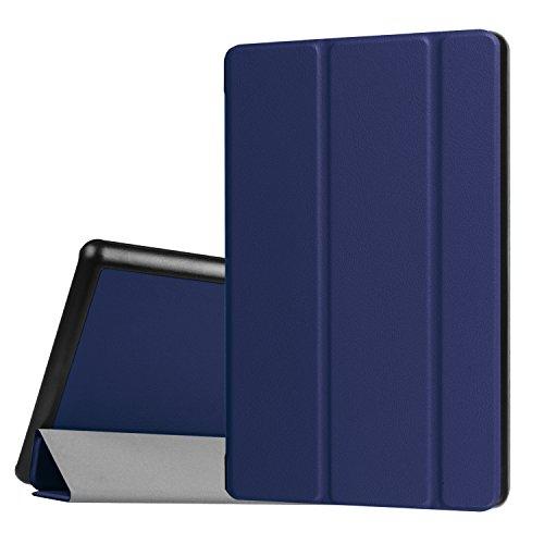 All-New HD 8 Tablet-Hülle (8./7. Generation, 2018/2017), Schlanker, leichter, maßgefertigter, hochwertiger PU-Lederabdeckungsfall auch für HD8 6. Gen 2016 Tablets - Blue