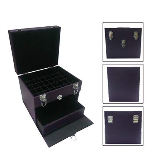 HUATINGRHBO Professionelle Beauty Vanity Case Kosmetik Make-up Box Fach Nagellack Lagerung Schmuck Aufbewahrungskoffer, Black (Nagellack Case Handy)
