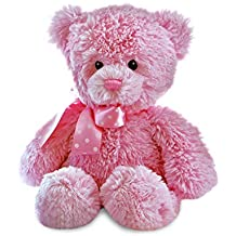 Aurora Baby Yummy Pink Bear, 20507, Pink Soft Toy For The Nursery And Newborn Babies. Soft Teddy Bear. Perfect 'New Baby Girl' Gift