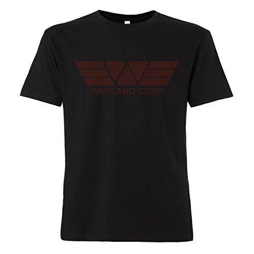 ShirtWorld - Weyland Corp - T-Shirt Schwarz (Horrorfilm Ideen)