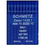 La spola-10aghi per macchina da cucire industriale schmetz dbx11738(A) 16X 231spessore 70/10pistone Rotondo
