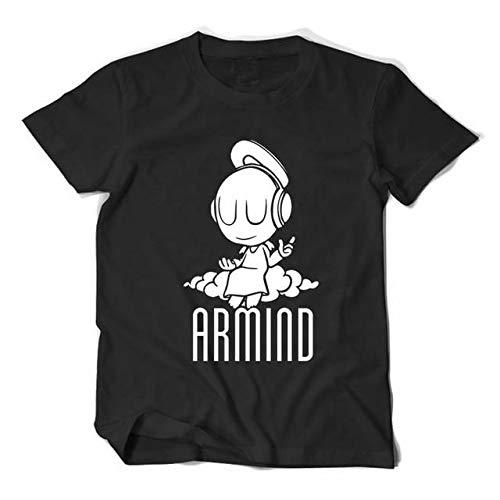 WEY T-Shirt, Dj Armin Van Buuren T-Shirt Mit Print, Casual T-Shirt Für Männer Und Frauen,Schwarz,XXL