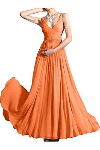 Missdressy - Robe - Plissée - Femme Orange