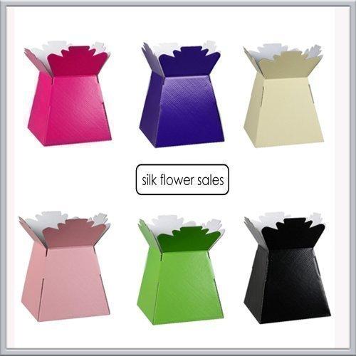 30x LIVING VASE/ HAND TIED/ AQUA VASE FLORIST TRANSPORT BOX ASSORTED PEARLISED COLOURS by Living Vase