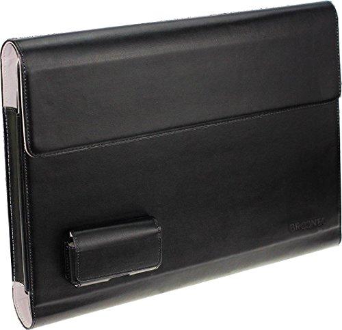 Broonel London – Prestige – schwarzes premium Case / Cover Trage Tasche / Folio speziell für VERICO UniBook 11,6