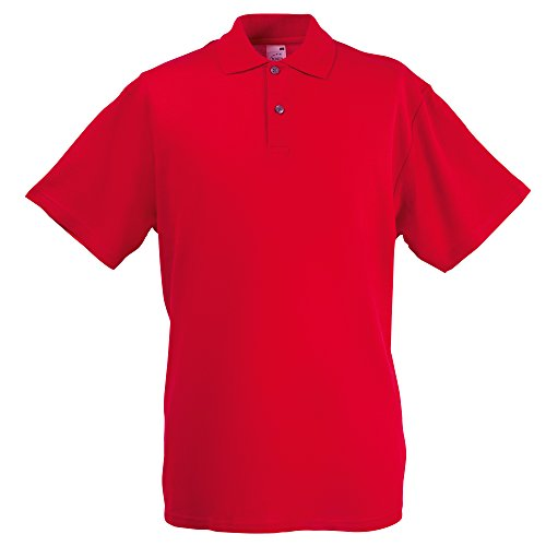 Screen Stars Fruit Of The Loom Herren Original Pique Polo-Shirt, Kurzarm Black
