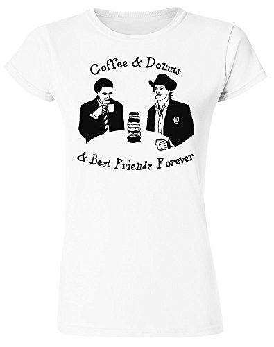 Coffee And Donuts And Best Friends Forever Design Women's T-Shirt Extra Large