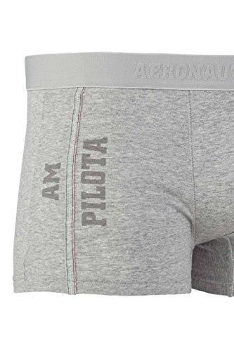 Aeronautica Militare Herren Unterwäsche Boxershort Tommaso Melange Grey