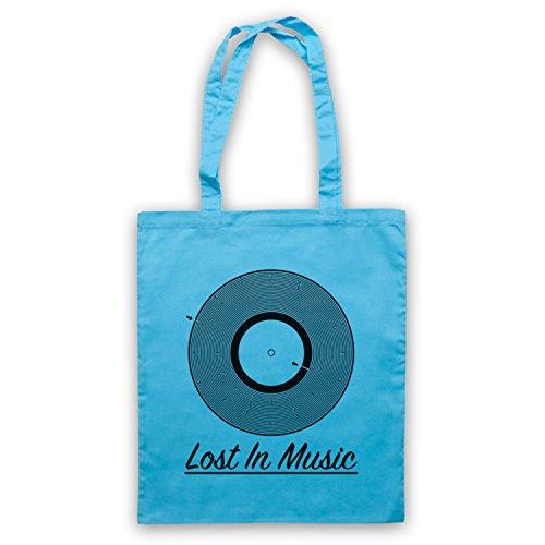 Lost In Music Vinyl Record Groove Maze Umhangetaschen Hellblau