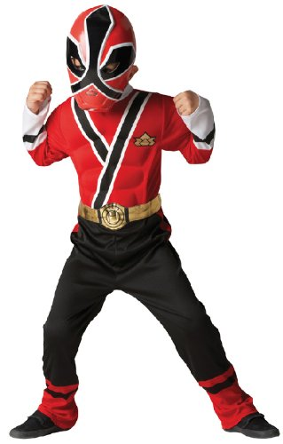 Karneval Kinder Kostüm Power Rangers Samurai in rot zu Fasching Gr.S