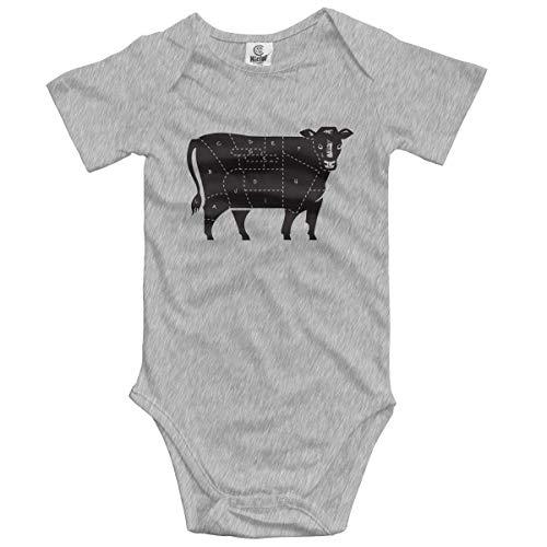 dy Kurzarm Cuts of Beef Newborn Bodysuits Baumwolle Strampler Outfit Set ()