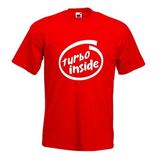 KIWISTAR - Turbo inside T-Shirt in 15 verschiedenen Farben - Herren  Funshirt bedruckt Design