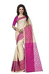 Trendz Womens Cotton Silk Saree(TZ_Padmavati_Pink_Pink_Free Size)