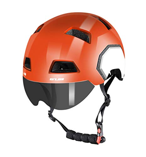 Fahrradhelm Mit Abnehmbarer magnetischer Schutzbrille Visier Shield BMX Mountain Road Fahrrad MTB-Helme Einstellbare Fahrradhelme Für Erwachsene Männer und Frauen im Freiensport,B-M