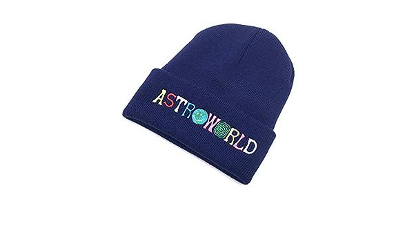 Yooci Bonnet Homme Hiver Chaud Travi $ Scott Bonnet Astroworld Bonnet Brod/é Astroworld Ski Warm Winter Unisexe Bonnets Travis Scott Skullies