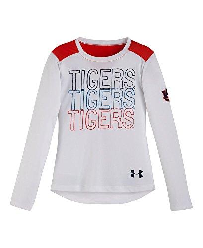 Under Armour Little Mädchen Vorschul Auburn Tigers Lange Ärmel 4weiß (Auburn Mädchen Tigers)