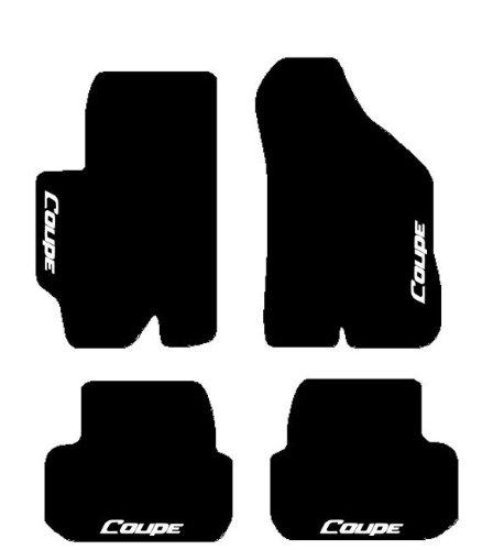 �bis 2009Schwarze Fußmatten für Auto, Komplettset-Gummimatten passgenau mit Stickerei Bianco ()