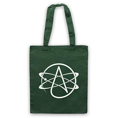 My Icon Art & Clothing Atomic Whirl Atheist Symbol Umhangetaschen, Dunkelgrün