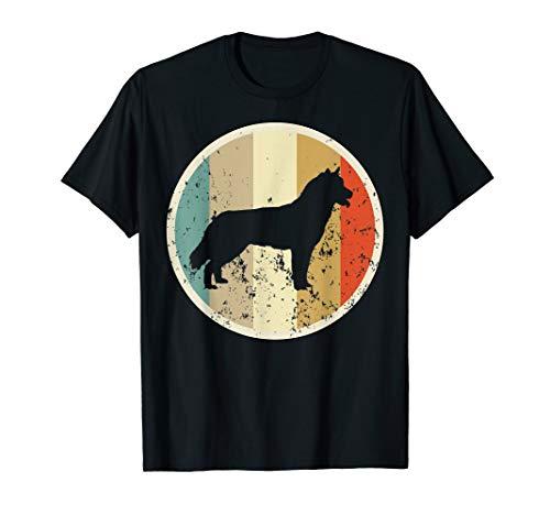 Siberian Husky Hund T-shirt (Retro Vintage Grunge Style Siberian Husky Hunde T-Shirt)