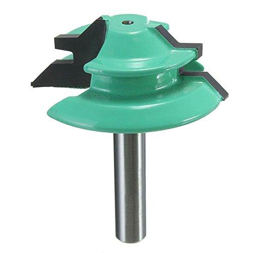 TOOGOO Neue 1 STueCK 1/4 zoll Schaft Gehrungsblock Fraeser 45 Grad Holz Fraeser 1-1 / 2 zoll Durchmesser Fuer Carpenter Werkzeuge