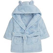 Bata de baño para bebé con capucha, de forro polar suave, con orejas y corazón