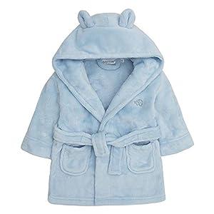 Bata de baño para bebé con capucha, de forro polar suave, con orejas y corazón 13