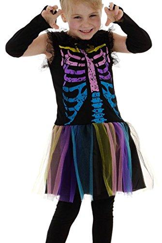 Folat Arco iris de esqueleto vestido de niña