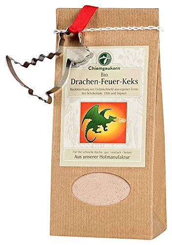Chiemgaukorn Bio Chiemgauer Drachenfeuer-Keks, Backmischung mit Keks-Ausstecher -