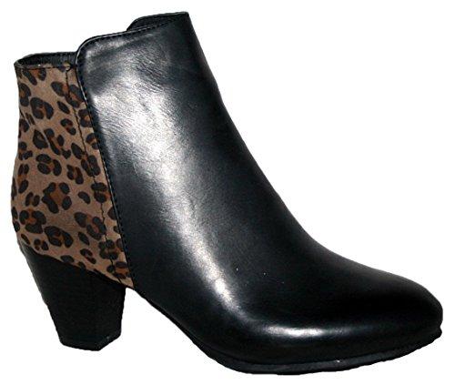 Shoe Tree, Bottes pour Femme black/leopard