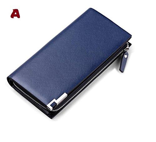 Mann geldbörse,Lange brieftasche,Leder - wallet,HANDY - tasche (A) A