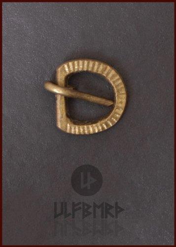 Mittelalterliche Riemenschnalle aus Messing von ULFBERTH® - Riemenbreite: bis ca. 12 mm