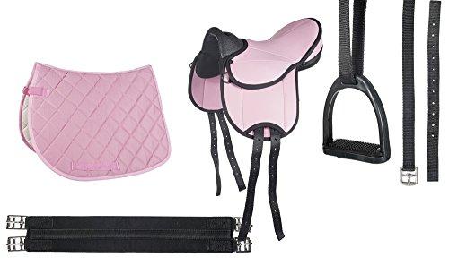 HKM Set sella per principianti, per pony, Pink