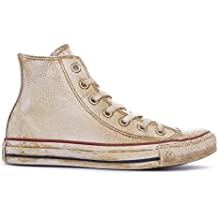 all star alte bianche pelle