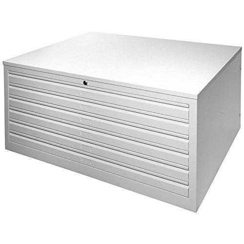 JOKER Planschrank, 6 Schubladen, DIN A0 LICHTGRAU [MPC/6.A0]