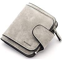 AlexVyan Grey Small Women's Purse Wallet Female Hand Clutch Women/ Ladies/ Girls Wallets Card Holder 3 Pocket (Grey)