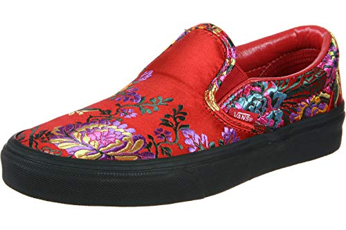 Vans Classic Slip-On Calzado (Festival Satin) Red/blk