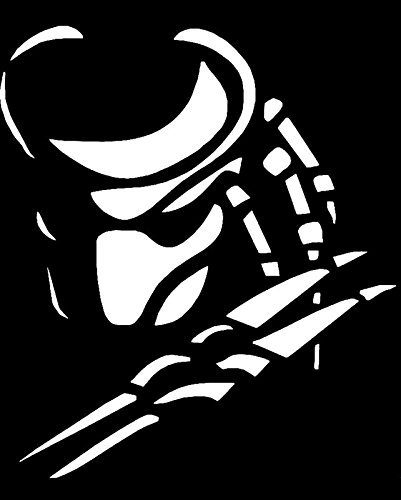 Price comparison product image Predator Face Vinyl Decal Sticker|Cars Trucks Vans Walls Laptops|WHITE|5 In|KCD574