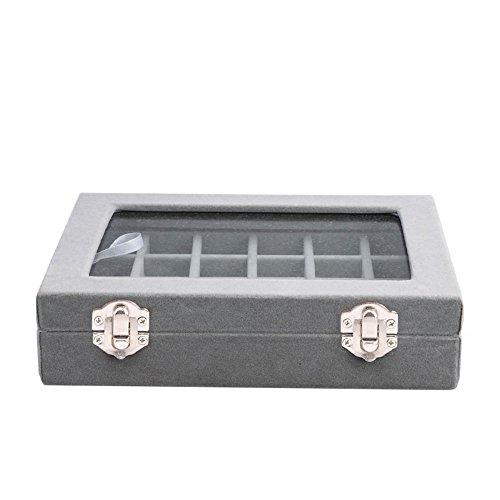Meshela Neu 24 Fächer Damen-Schmuckkasten Schmuckkoffer Schmuckständer Aufbewahrungsbox für Schmuck