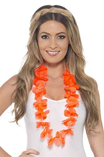 Blumenkette, One Size, Neon Orange, 45559 ()