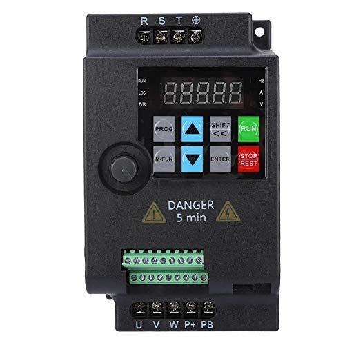 Mini Frequenzumrichter, 3 Phasen Ausgang Wechselstrom Drehzahlregler Frequency Converter VFD Drive Inverter für Motor 220V/ 380V 0.75/1.5/2.2KW(380VAC 0.75kW) - 3-phasen-motor
